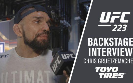 "UFC 223: Chris Gruetzemacher – ""I Just Stopped Him"""