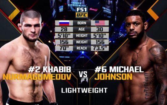 UFC 223 Free Fight: Khabib Nurmagomedov vs Michael Johnson
