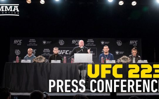 UFC 223: Nurmagomedov vs. Holloway Press Conference – MMA Fighting