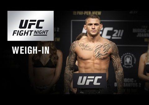 UFC Fight Night Glendale: Weigh-in