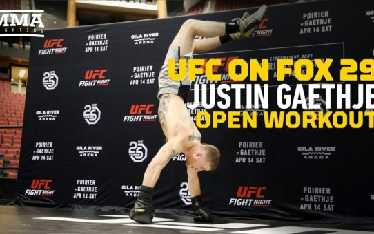 UFC on FOX 29: Justin Gaethje Open Workout Highlights – MMA Fighting