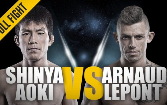 ONE: Full Fight | Shinya Aoki vs. Arnaud Lepont | Incredible Triangle Choke | October 2012