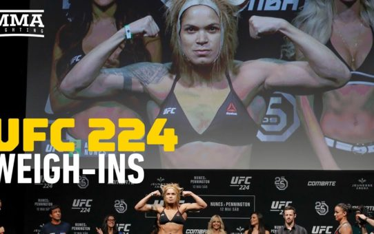 UFC 224 Ceremonial Weigh-In Highlights – MMA Fighting