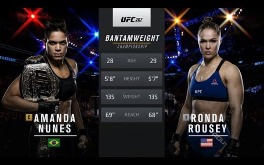 UFC 224 Free Fight: Amanda Nunes vs Ronda Rousey