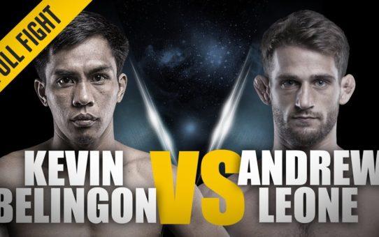 ONE: Full Fight   Kevin Belingon vs. Andrew Leone   Spinning Sidekick TKO   April 2018