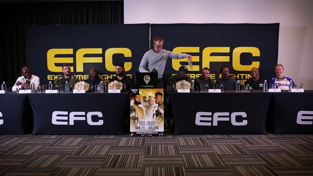 EFC 71 Fight Week Press Conference