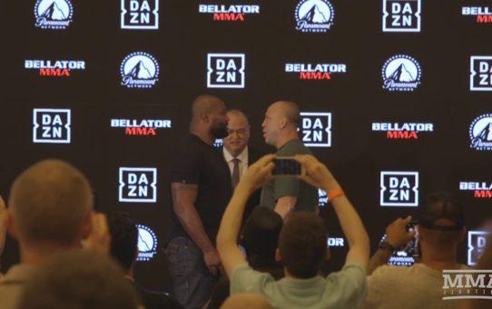 Rampage Jackson vs. Wanderlei Silva 4 Bellator Staredown – MMA Fighting