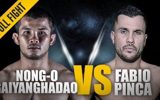 ONE: Full Fight | Nong-O Gaiyanghadao vs. Fabio Pinca  | Muay Thai Master Class | April 2018