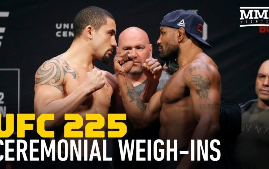 UFC 225 Ceremonial Weigh-In Highlights – MMA Fighting