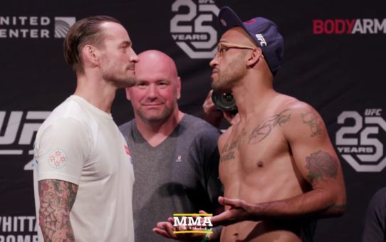UFC 225 Weigh-Ins: CM Punk vs. Mike Jackson Staredown – MMA Fighting