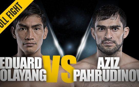 ONE: Full Fight   Eduard Folayang vs. Aziz Pahrudinov   Chopping Leg Kicks   July 2018