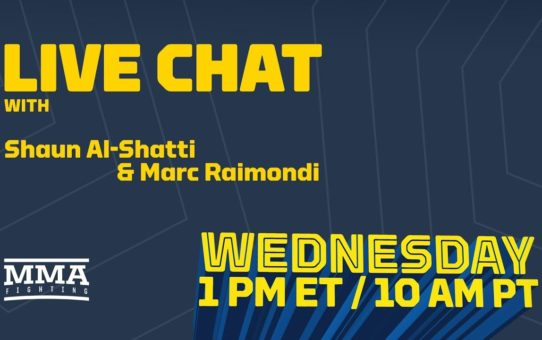 Live Chat: Stipe Miocic Grievances, Brendan Schaub vs. Dana White, Cris Cyborg, More – MMA Fighting