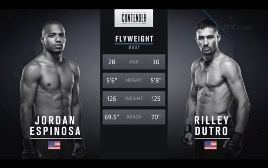 FREE FIGHT   Second Time's a Charm for Espinosa   DWTNCS Week 4 Contract Winner – Season 2