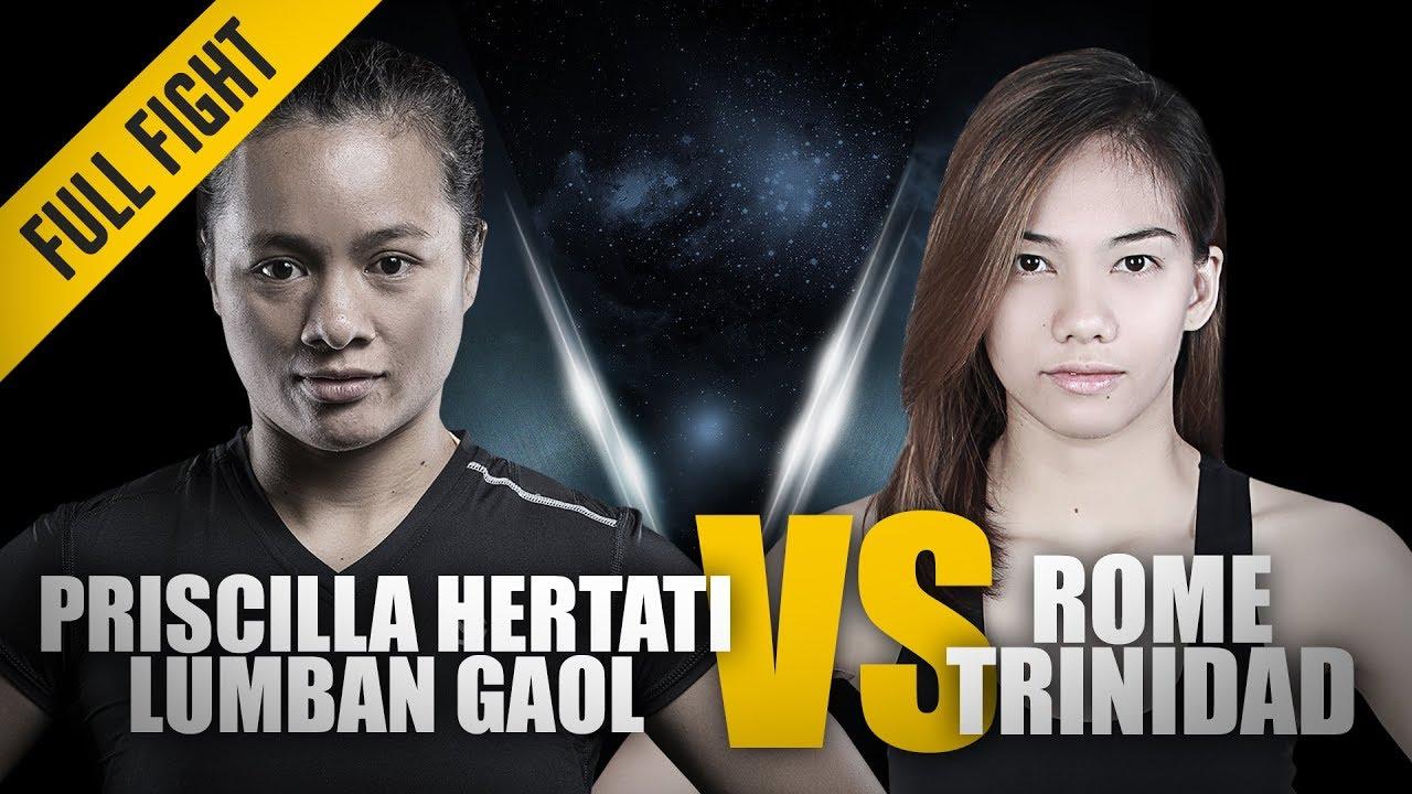 ONE: Full Fight | Priscilla Hertati Lumban Gaol vs. Rome Trinidad | Glorious Guillotine | May 2018