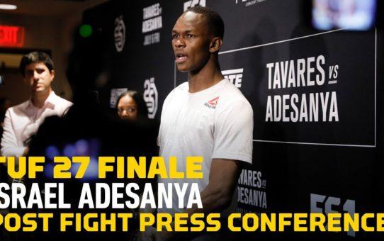 Israel Adesanya TUF 27 Finale Post-Fight Press Conference – MMA Fighting
