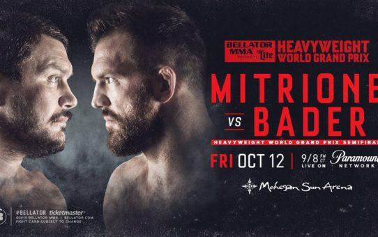 Heavyweight World Grand Prix: Matt Mitrione vs. Ryan Bader – PRE-SALE Tickets on Sale Now!
