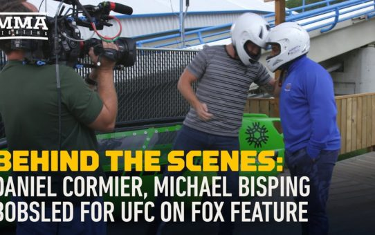 Behind the Scenes: Daniel Cormier, Michael Bisping Bobsled for UFC on FOX – MMA Fighting