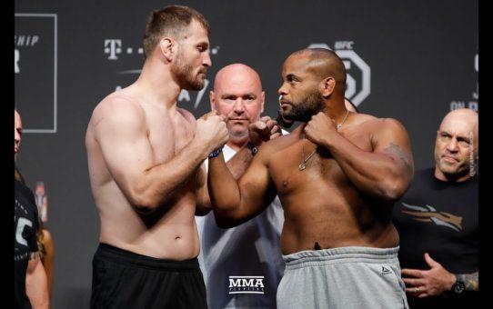 Stipe Miocic vs. Daniel Cormier UFC 226 Weigh-In Staredown – MMA Fighting