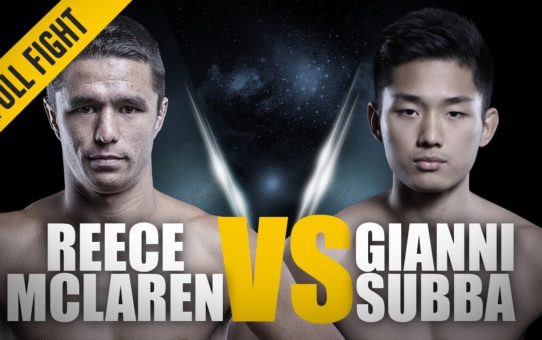 ONE: Full Fight | Reece McLaren vs. Gianni Subba | Lightning-Fast Arm Triangle | March 2018