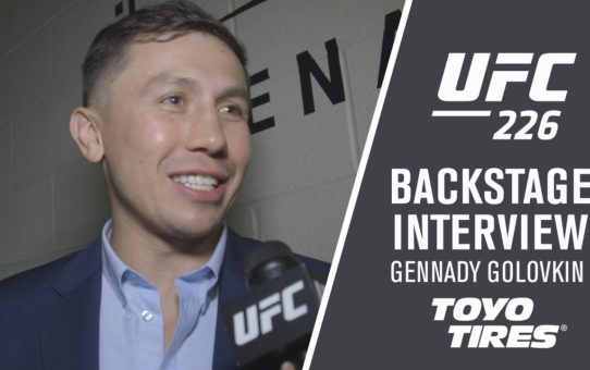 UFC 226: Gennady Golovkin Backstage Interview