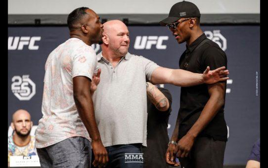 Derek Brunson vs. Israel Adesanya UFC 25th Anniversary Press Conference Staredown – MMA Fighting