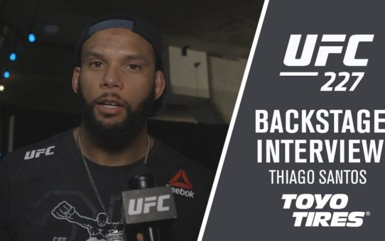 UFC 227: Thiago Santos – 'I Love Fighting, That's What I Do '