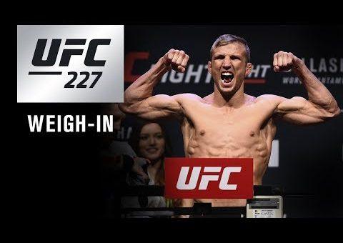 UFC 227: Weigh-in