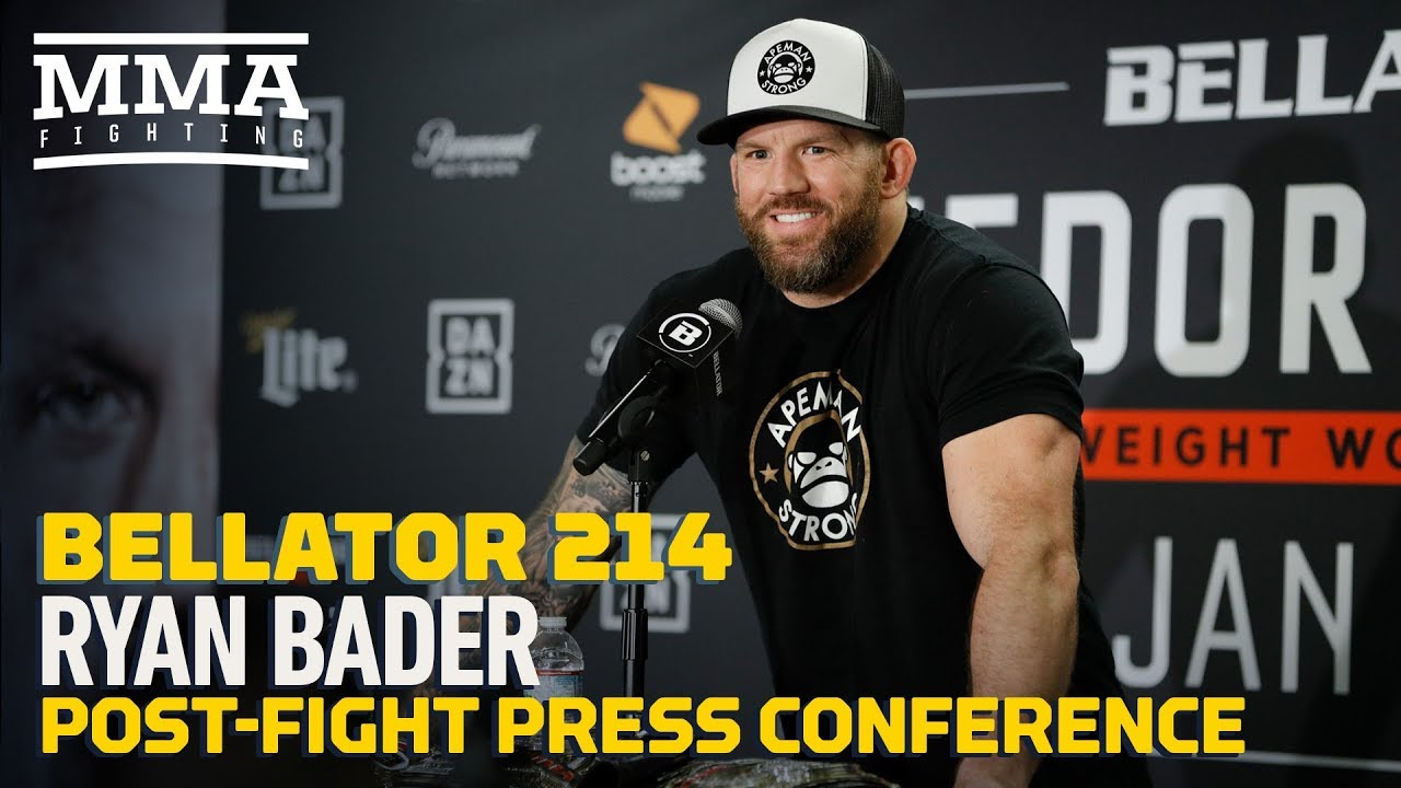 Bellator 214: Ryan Bader Post-Fight Press Conference - MMA Fighting