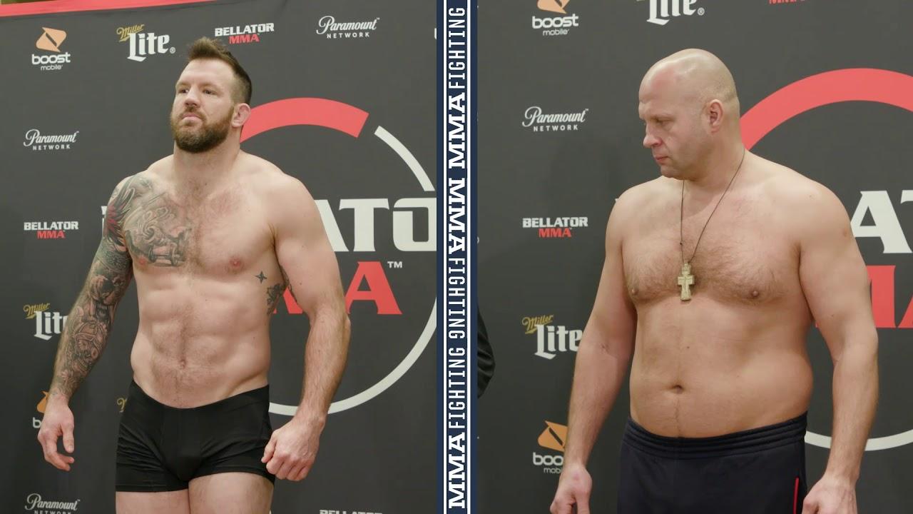 Bellator 214 Weigh-Ins: Ryan Bader, Fedor Emelianenko Make Weight - MMA Fighting
