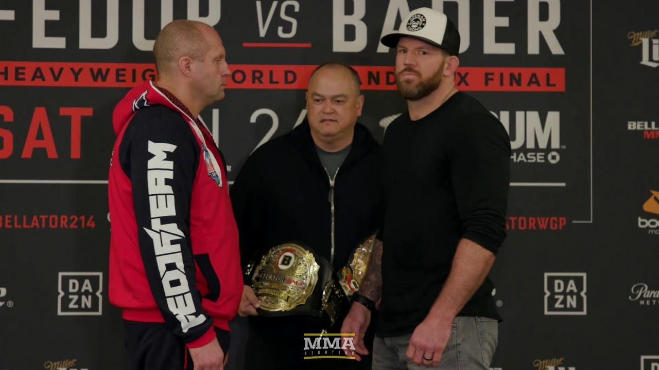 Bellator 214: Fedor Emelianenko vs. Ryan Bader Media Day Staredown - MMA Fighting
