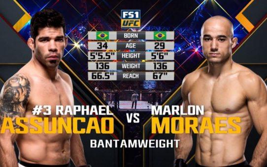 UFC Fortaleza Free Fight: Rafael Assuncao vs Marlon Moraes 1