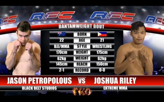 AFC 15 – Bout No. 1 – Jason Petropolous Vs Joshua Riley – MMA Fight