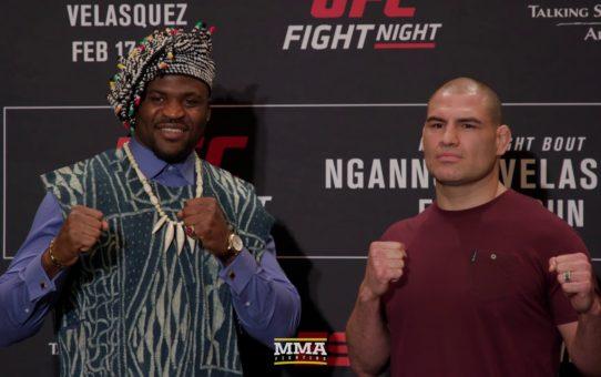 UFC Phoenix: Francis Ngannou vs. Cain Velasquez Media Day Staredown – MMA Fighting