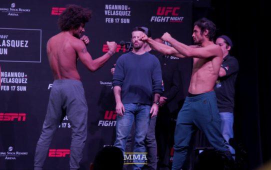 UFC Phoenix Weigh-Ins: Alex Caceres vs. Kron Gracie – MMA Fighting