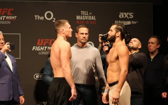 UFC London: Darren Till vs. Jorge Masvidal Weigh-In Staredown – MMA Fighting