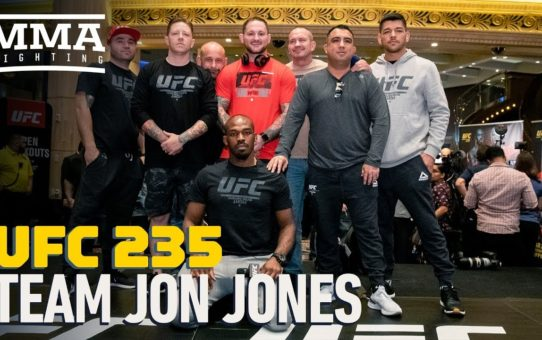 Jon Jones Introduces His Coaching Staff At UFC 235 Open Workouts – MMA Fighting