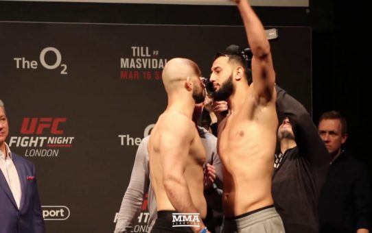 UFC London: Volkan Oezdemir vs. Dominick Reyes Weigh-In Staredown – MMA Fighting