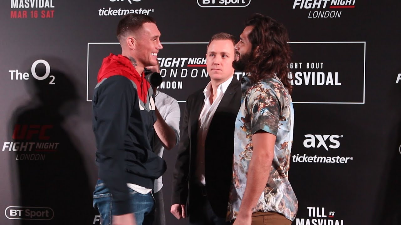 Darren Till vs Jorge Masvidal UFC London Media Day Staredown - MMA Fighting