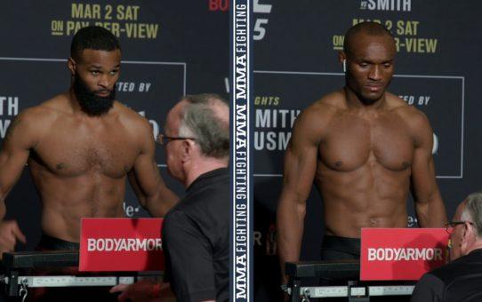 UFC 235 Weigh-Ins: Tyron Woodley, Kamaru Usman Make Weight – MMA Fighting