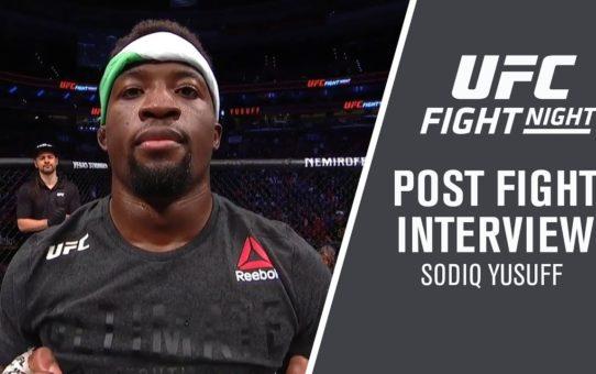 """UFC Philadelphia: Sodiq Yusuff – """"I Train For Wars"""""""