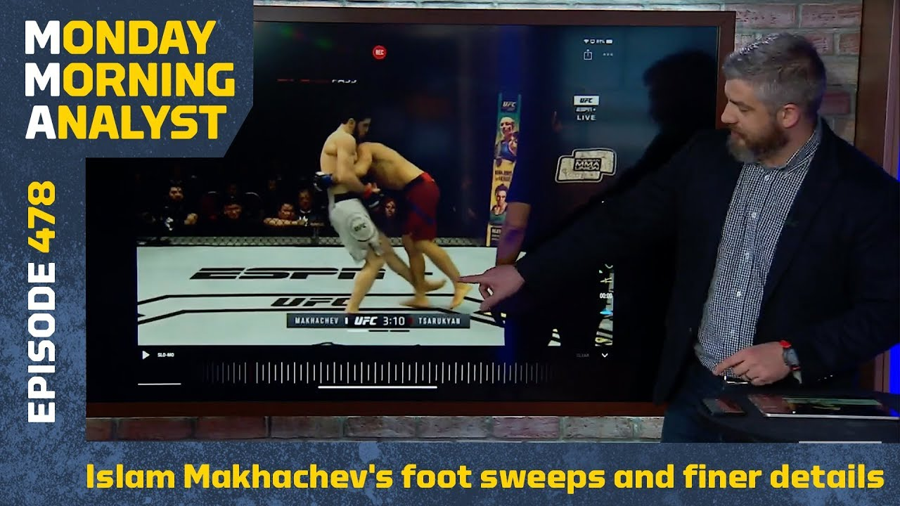 Breaking Down Islam Makhachev's Foot Sweeps and Finer Details   Monday Morning Analyst #478