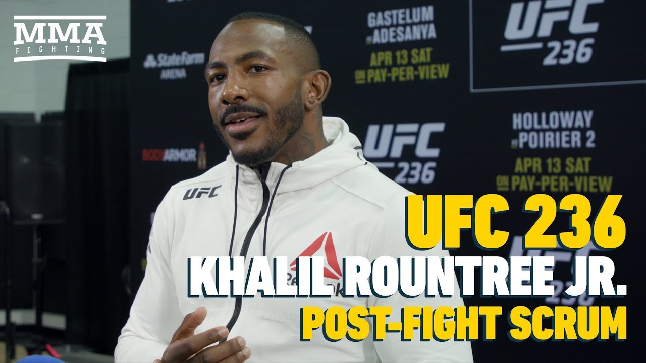 UFC 236: Khalil Rountree Plans to 'Set My Roots' in Thailand After Marked Improvement - MMA Fighting