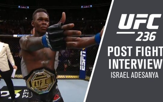 "UFC 236: Israel Adesanya – ""I Knew I Was Hurting Him"""
