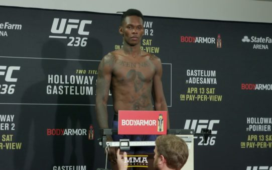 UFC 236 Weigh-Ins: Israel Adesanya Makes Weight – MMA Fighting