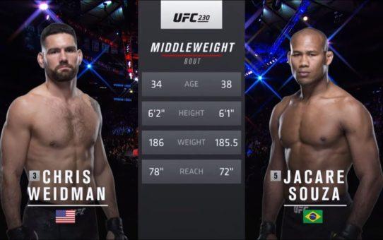 UFC Fort Lauderdale Free Fight: Jacare Souza vs Chris Weidman