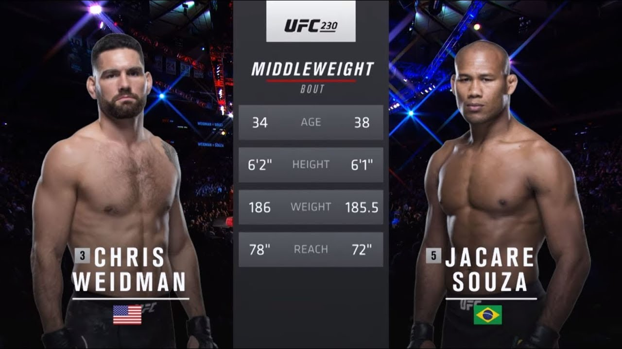 UFC Fort Lauderdale Free Fight: Jacare Souza vs Chris Weidman