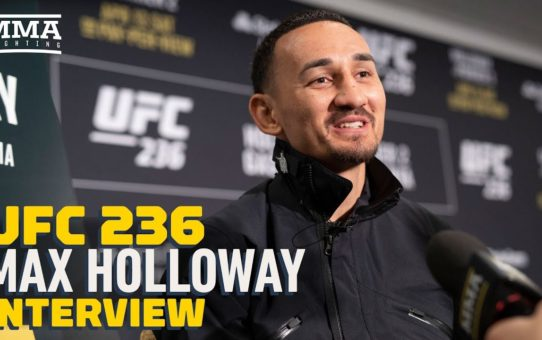 UFC 236: Max Holloway Says New UFC Belts Look Like Something Out of Power Rangers