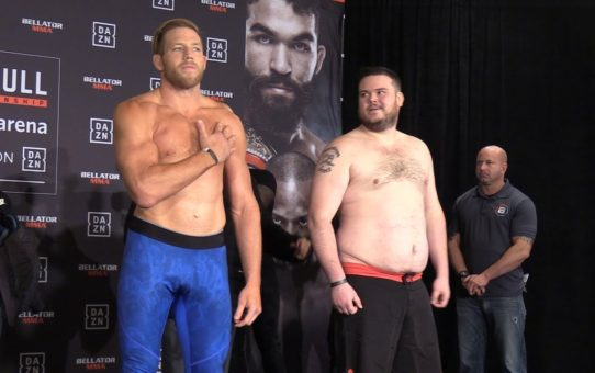Bellator 221 Weigh-Ins: Jack Swagger, T.J. Jones Have Tense Staredown – MMA Fighting