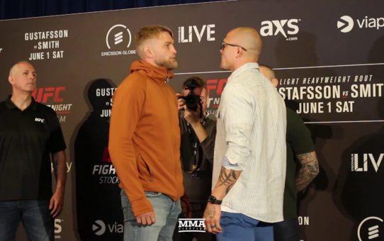 Alexander Gustafsson vs. Anthony Smith UFC Stockholm Media Day Staredown – MMA Fighting
