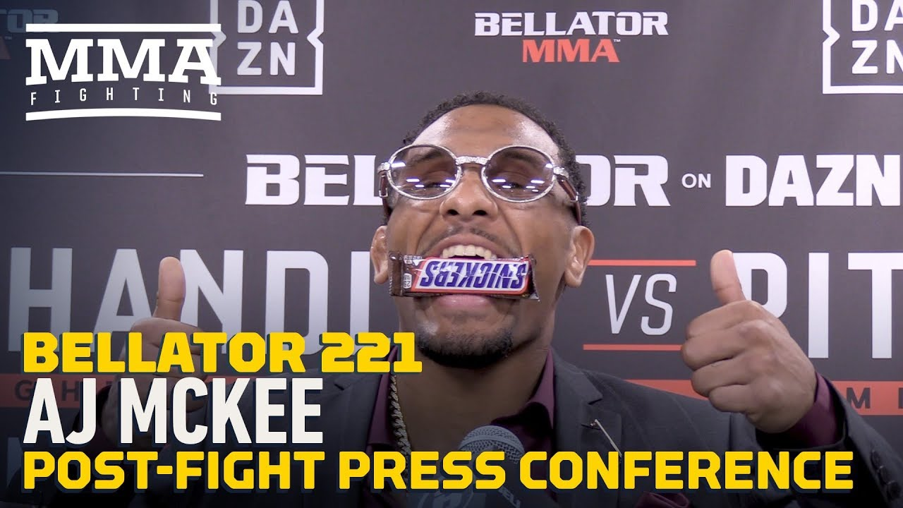 Bellator 221: A.J. McKee Post-Fight Press Conference - MMA Fighting